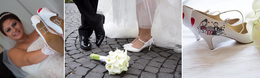 Brautschuhe bemalen lassen